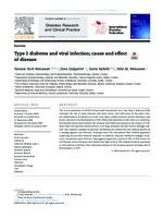 Type 2 diabetes and viral infection; cause and effect of disease